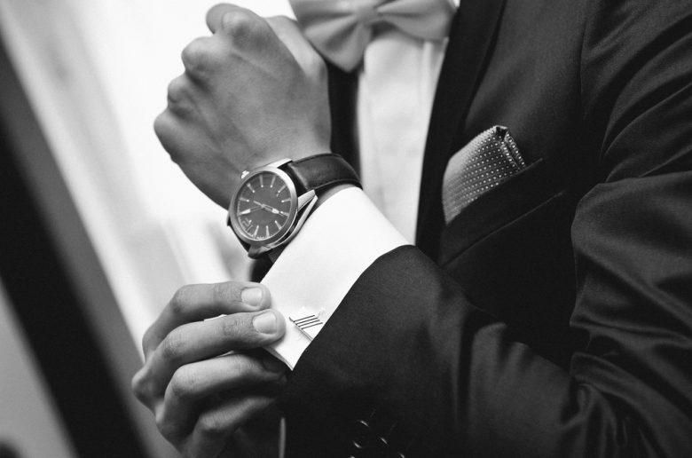 Close-Up Black and White Cufflinks