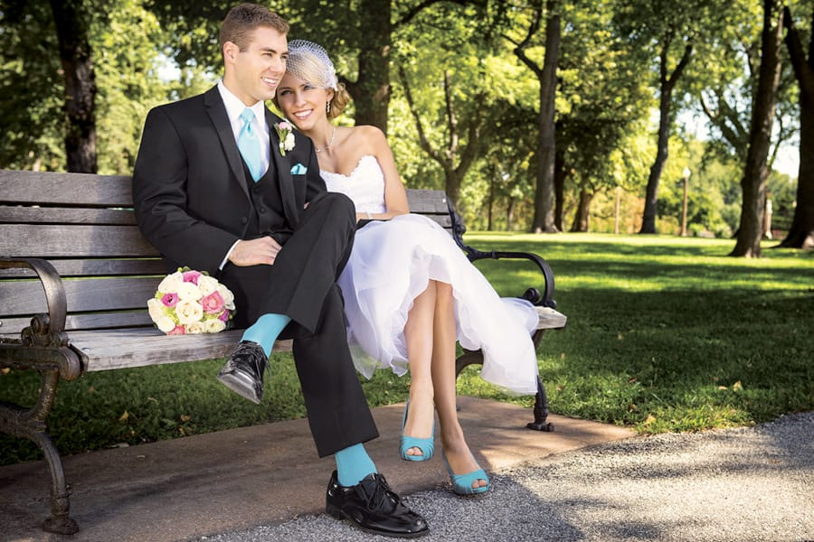 Colored Socks for Wedding Tuxedos