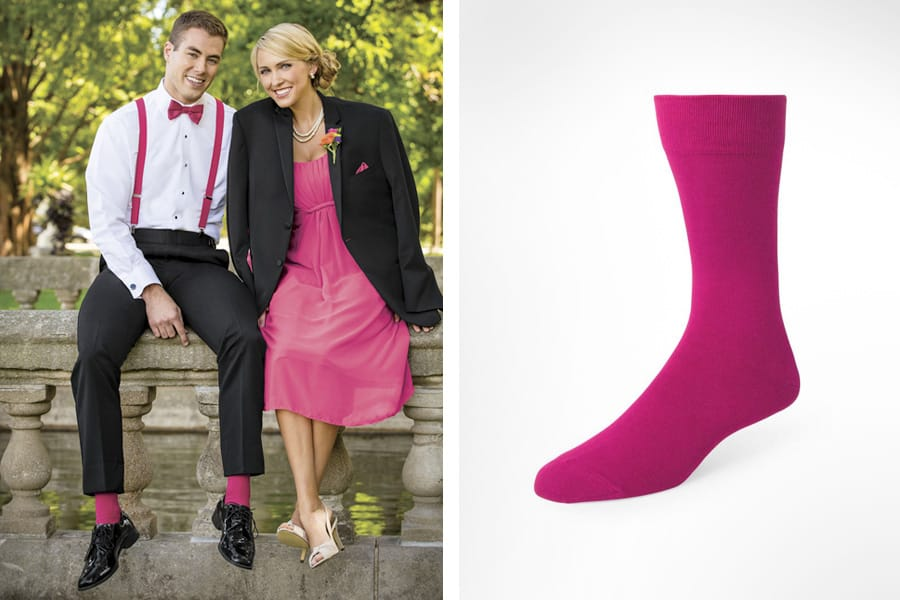 Colored Socks for Prom Tuxedos