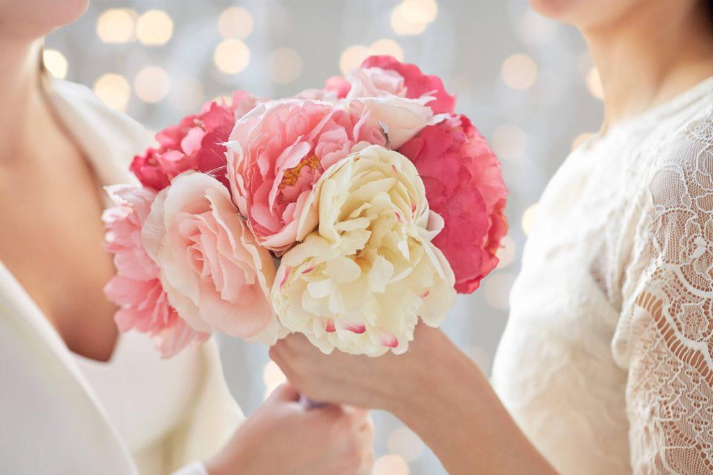 same sex wedding flowers