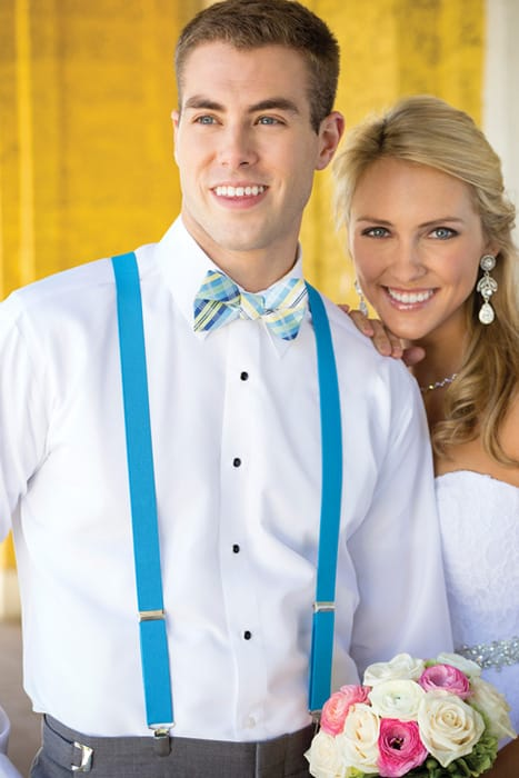 Colorful Bow Tie and Suspenders
