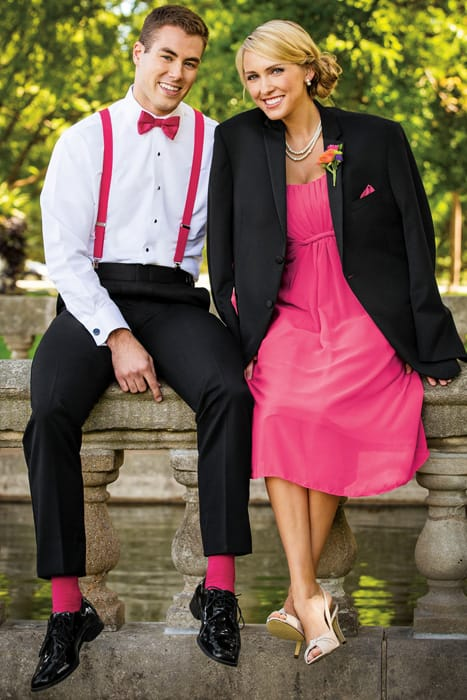 Prom Couple - Colorful Socks and Suspenders