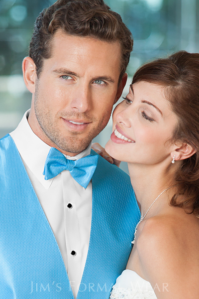 Malibu Herringbone Fullback Vest and Bow Tie