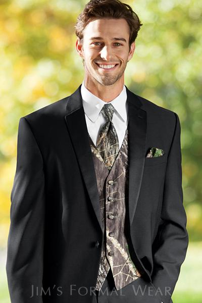 Fullback Camouflage Tuxedo Vest and Tie