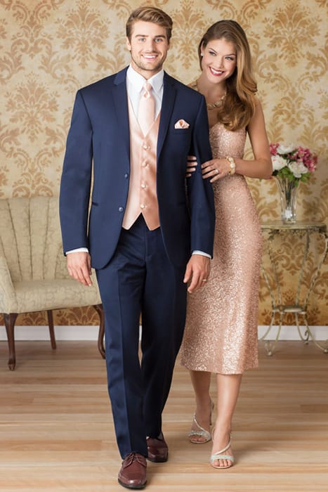 Wedding guest attire guidelines jims formal wear michael kors navy sterling wedding suit junglespirit Images