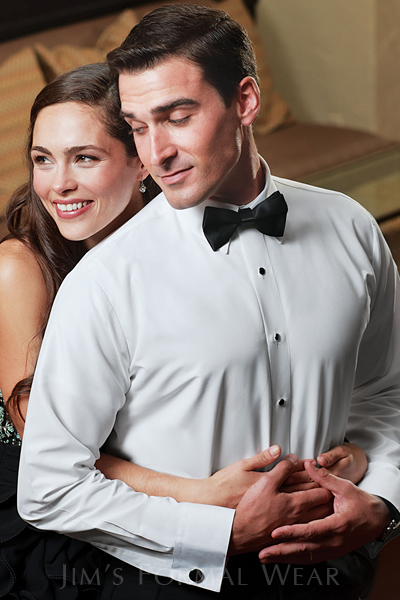 Rules for wearing a tuxedo - Microfiber Fitted Formal Shirt