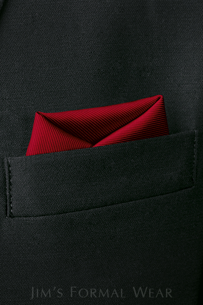 rules for wearing a tuxedo - Red Pocket Square