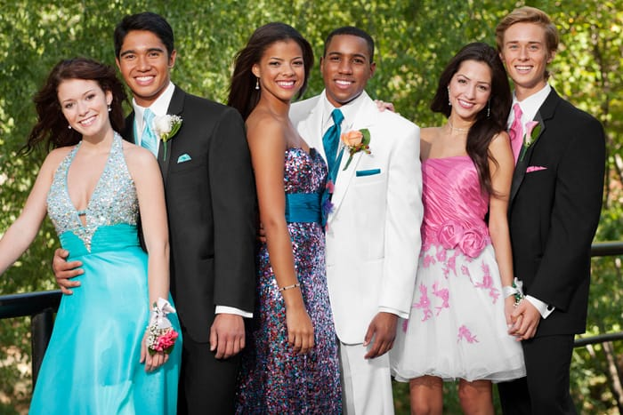 Colorful, Coordinated Prom Tuxedos and Accessories