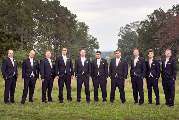 Real Wedding: Chelsea and Clark Groomsmen