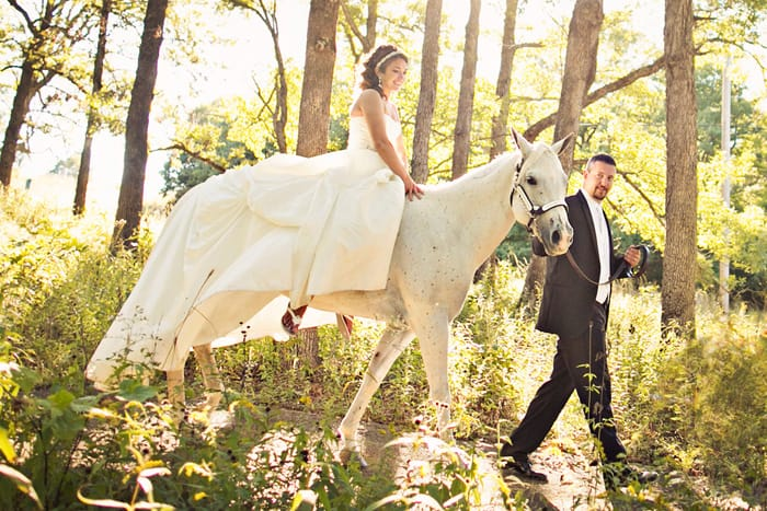 Real Wedding: Chelsea and Clark Horseback Riding