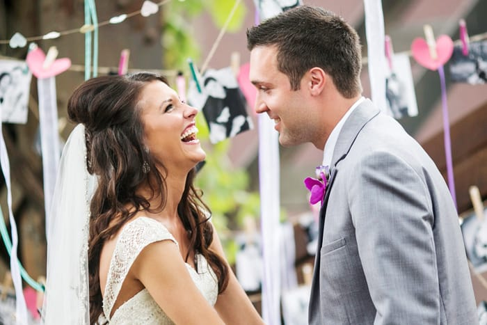 Real Weddings: Tara and Spencer Laughing