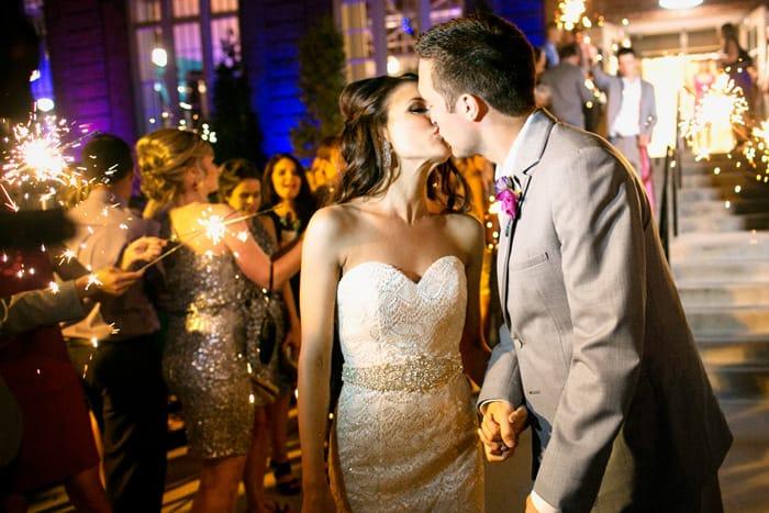 Real Weddings: Tara and Spencer Kissing