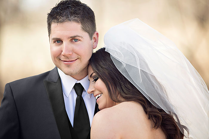 Jillian and Greg Closeup on Portofino Black Lapel - Wedding Inspiration