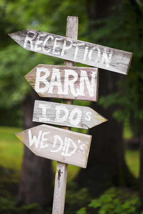 Rustic Wedding - Fun Signage