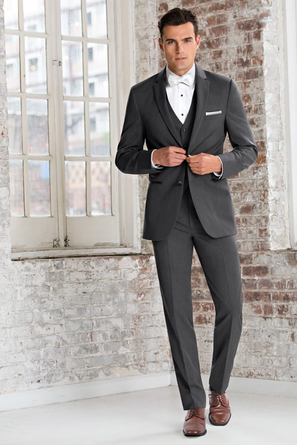 Slim Fit Wedding Suit Grey Michael Kors