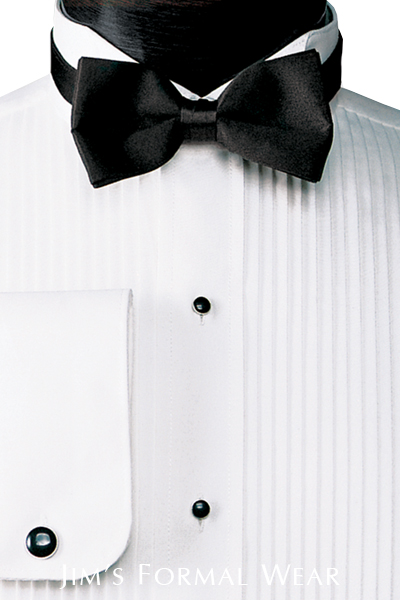 Rules for wearing a tuxedo - Wing Collar Shirt with Black Bow Tie