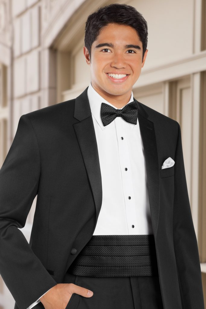 how to wear a cummerbund black
