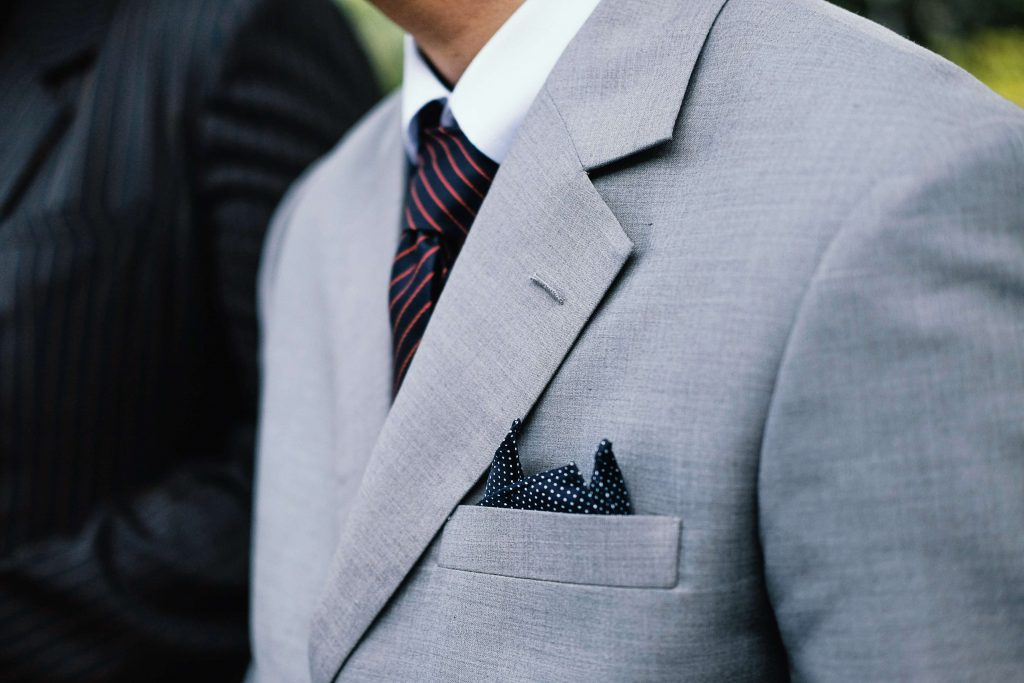 suit tie and pocket square combinations blue