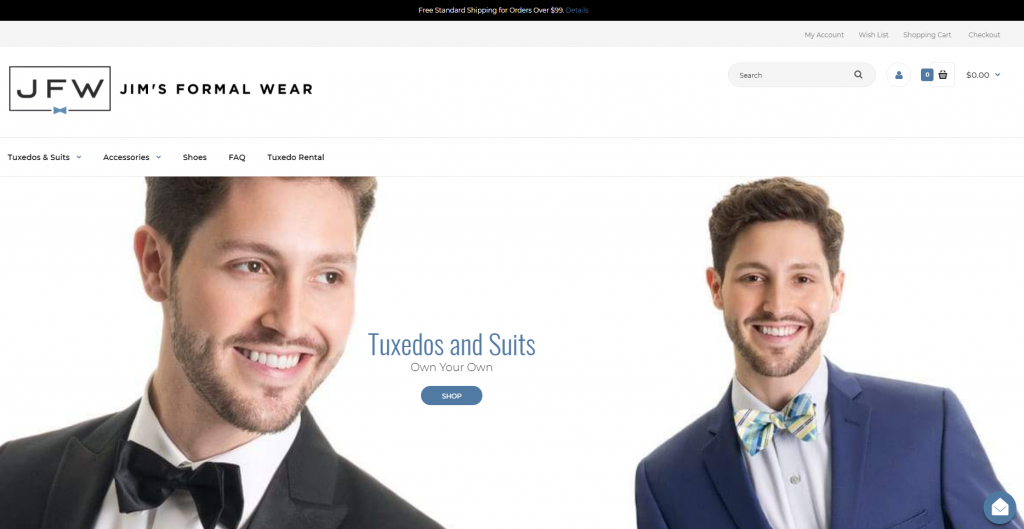 Buy Your Tuxedo or Suit Homepage