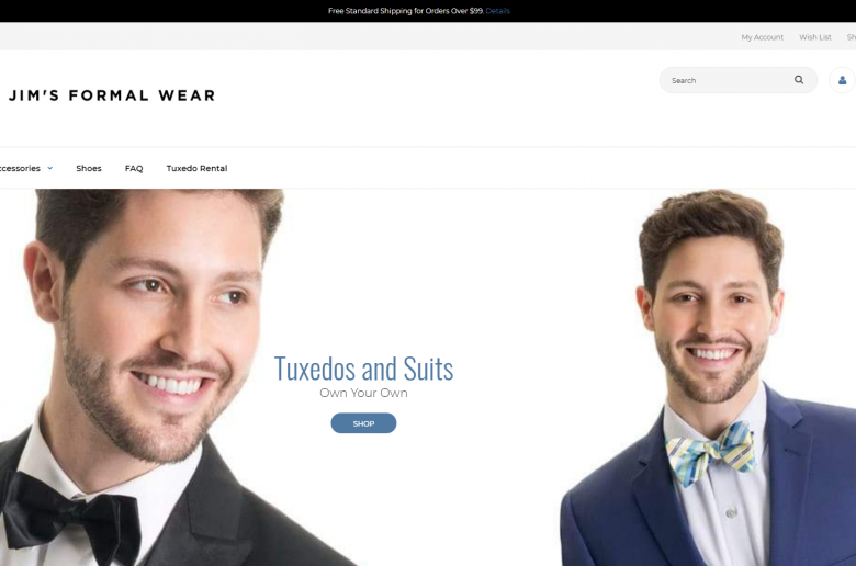 JFW Shop Home Page Screenshot