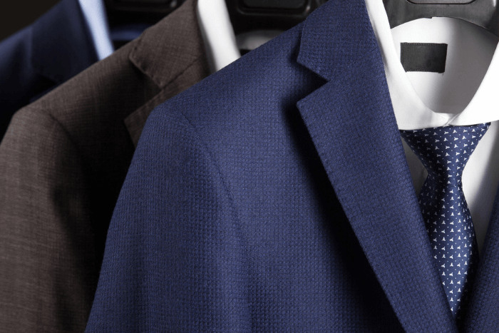 suit jackets on rack