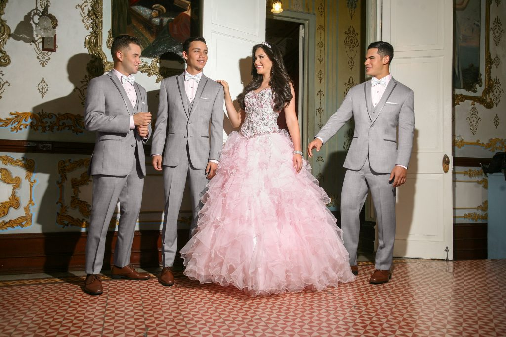 Chambelanes at a Quincenera