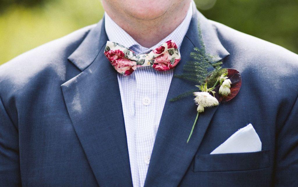 Floral Bowtie for Spring Suit
