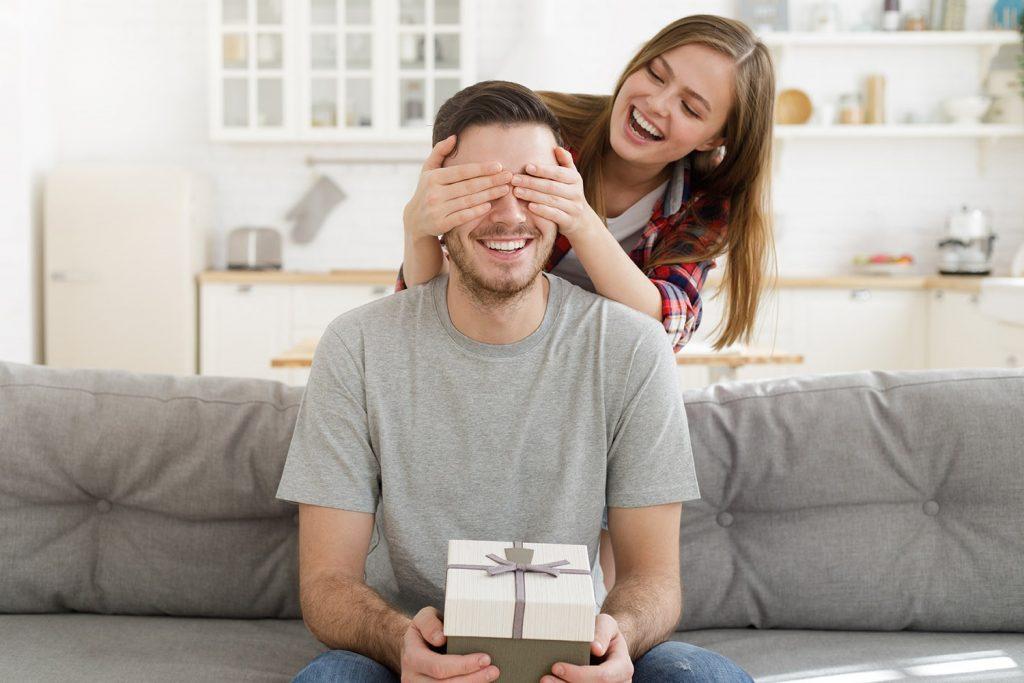 Man receiving gift