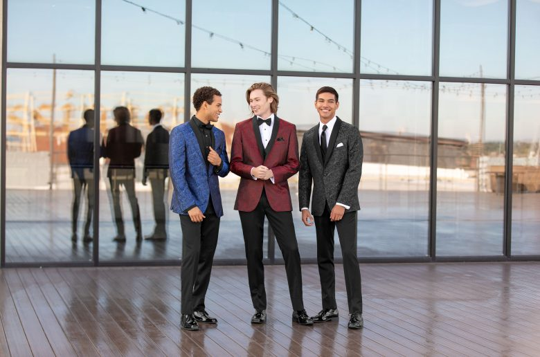 Homecoming Outfit Ideas - Three guys dressed in suits for Homecoming