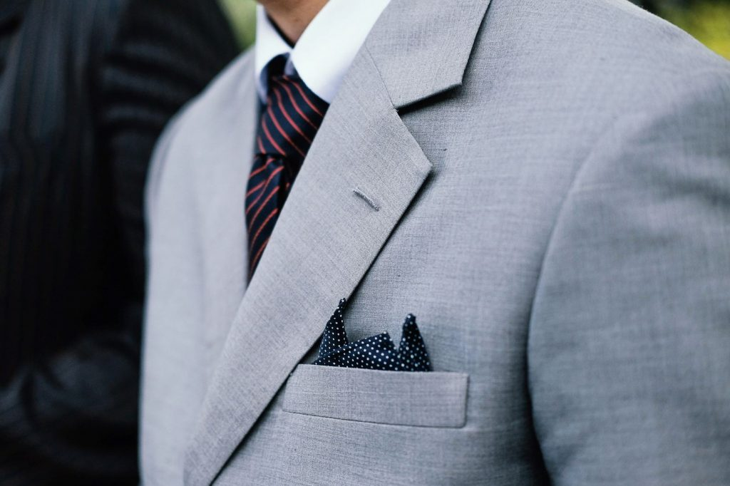 Tips for your first suit or tux fitting - Close up of suit lapels