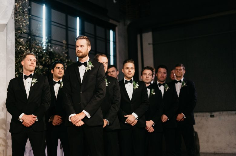 groomsmen waiting