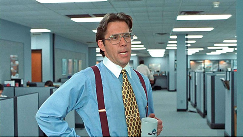 creative halloween costumes - Bill Lumbergh in Office Space