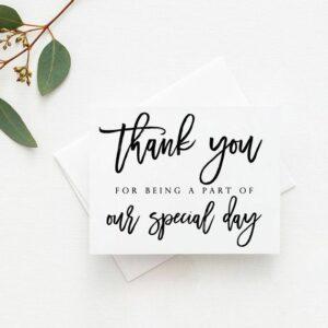 Thank you card to wedding vendor