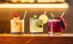 three different types of mojitos