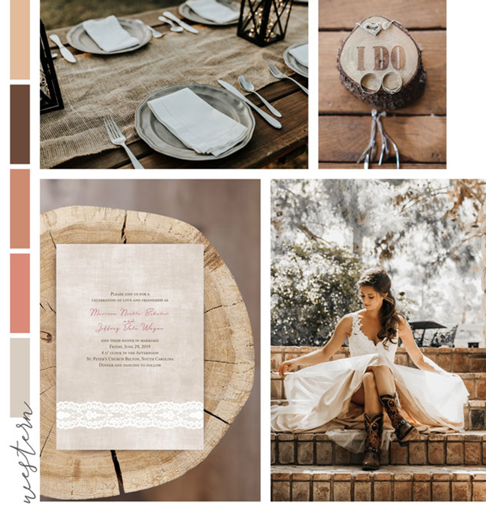 country wedding images using brown decor items such as wood and burlap